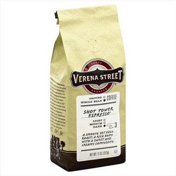 Verena Street 11 oz. Coffee Shot Tower Espresso - Whole Bean Case Of 6