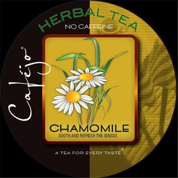Cafejo Herbal Tea Single-Serve Cups, Chamomile, 0.4 Oz, Pack Of 50
