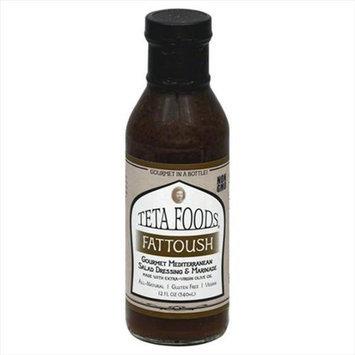 Teta Foods 12 oz. Fattoush Gourmet Mediterranean Salad Dressing & Marinade - Case Of 12