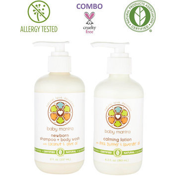 Baby Mantra Newborn Baby Bath Shampoo and Body Wash Plus Calming Lotion Combination Set