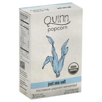 Quinn Foods Popcorn Microwave Popcorn Just Sea Salt - 3 Bags