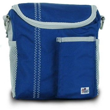 Sailorbags Sailor Bags 313-WB Lunch Bag White with Blue Trim