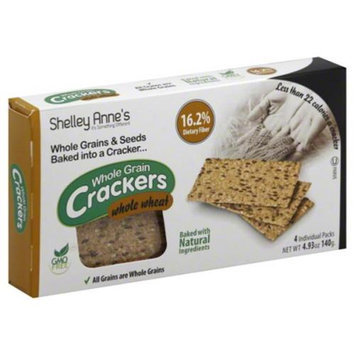 Shelley Annes Cracker Whole Wheat, 4. 93 Oz - Case of 12