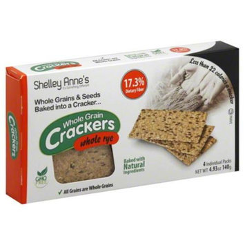 Shelley Annes Cracker Whole Rye, 4. 93 Oz - Case of 12