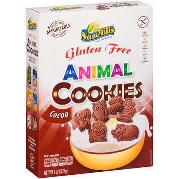 Sam Mills Gluten Free Cocoa Animal Cookies, 8 oz
