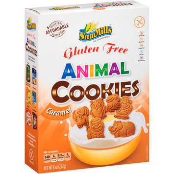 Sam Mills Gluten Free Caramel Animal Cookies, 8 oz