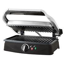 Cam Consumer Products, Inc. Contact Grill/Panini Press - Brushed Stainless Steel