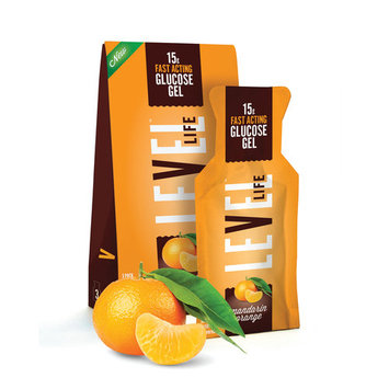 Level Foods Level Life Glucose Gel Mandarin Orange 3 Squeeze Packs
