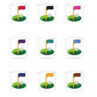 Wine Wear G012 Golf Wine Glass Decals - Set of 9