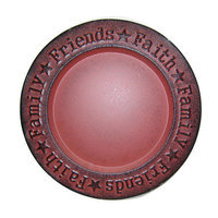 Craft Outlet Faith-Family-Friend Dish, Barn Red
