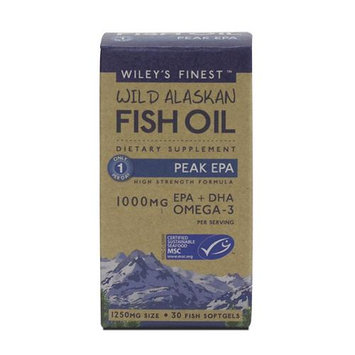 Wileys Finest Wiley's Finest - Wild Alaskan Fish Oil 1000mg EPA DHA Peak EPA - 30 Softgels