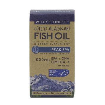 Wileys Finest Wiley's Finest - Wild Alaskan Fish Oil 1000mg EPA DHA Peak EPA - 30 Softgels