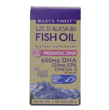 Wild Alaskan Fish Oil Prenatal DHA Wileys Finest 180 Softgel