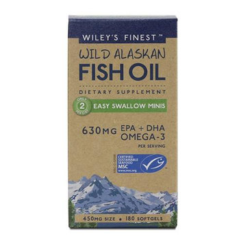 Wileys Finest Wiley's Finest - Wild Alaskan Fish Oil Easy Swallow Minis 450 mg. - 180 Softgels