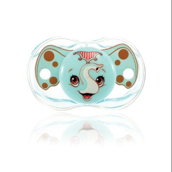 RaZbaby Pacifier & Holder (Girl) Elephant & Giraffe (2 Pack)