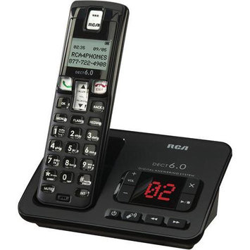 RCA BLACK CORDLESS PHONE DECT6.0 DIGITAL ANSWERING