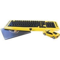 Road Mice Combo Lamborghini Murcielago Wireless Keyboard, Mouse & Mouse Pad