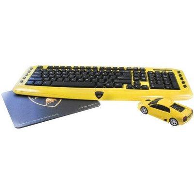 Road Mice Combo Lamborghini Murcielago Wireless Keyboard, Mouse & Mouse Pad