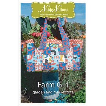 Noble Notions Patterns-Farm Girl Garden & Market Tote