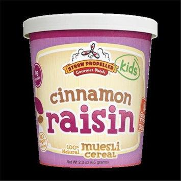 Straw Propeller Gourmet Foods 2.3 oz. Cinnamon Raisin Cold Cereal Muesli Case Pack 12