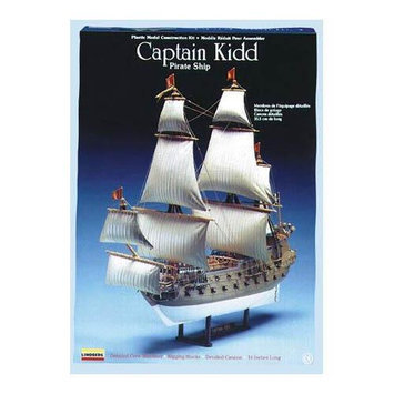 Lindberg 1130 scale Captain Kidd Pirate Ship