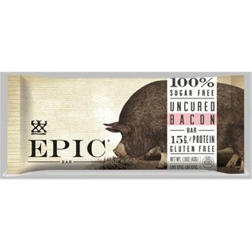 Epic Epic Bar - Uncured Bacon - 1.5 Ounce Bars - Case Of 12