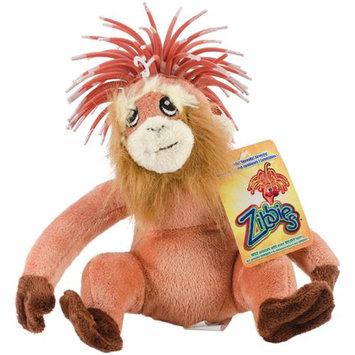 Innovation Pet Zibbies Plush Pet Toy W/Crazy Hair & Squeaker-Jozz The Orangutan