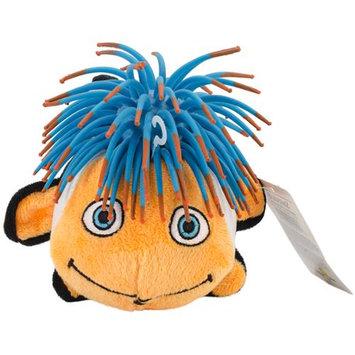 Innovation Pet Zibbies Plush Pet Toy W/Crazy Hair & Squeaker-Bubblez The Clown Fish