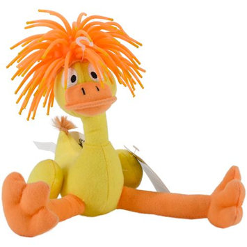 Innovation Pet Zibbies Plush Pet Toy W/Crazy Hair & Squeaker-Dukduk The Duck