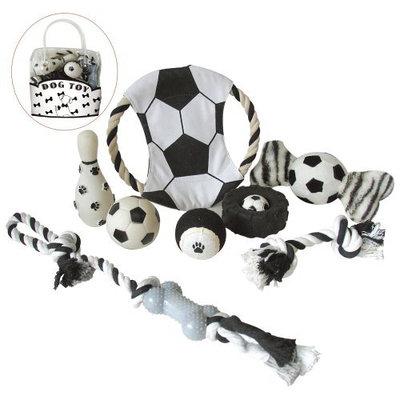 Pet Lift Pet Life 8-Piece Soccer Themed Dog Toy Set