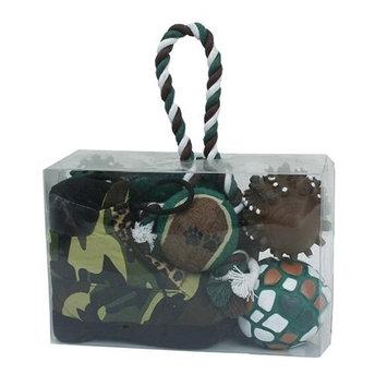 Pet Lift Pet Life 5-piece Camouflage Hunter Dog Toy Set