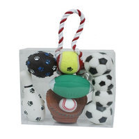 Pet Lift Pet Life 5-Piece Sports Themed Dog Toy Set