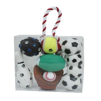 Pet Lift Pet Life 5-Piece Sports Themed Dog Toy Set