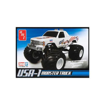 Round 2 USA-1 4X4 Monster Truck with Decals Snap Model Kit