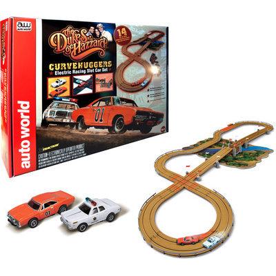 Auto World Dukes Of Hazzard Curvehuggers Slot Car Set