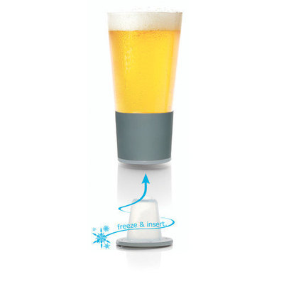 Set of 2 Dimpled Self-Chilling Beer Glasses
