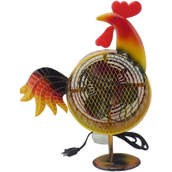 WBM HBL-9004 Himalayan Breeze Decorative Fan Rooster - Large