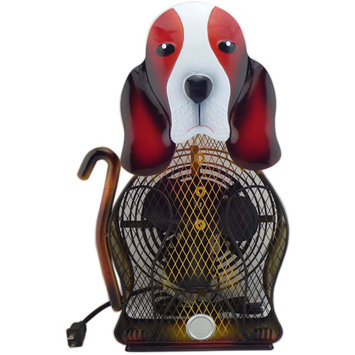 WBM HBL9022 Himalayan Breeze Decorative Fan Basset Hound Large