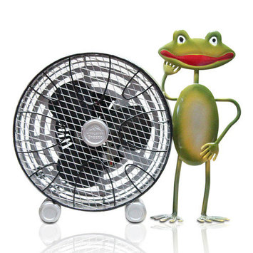 WBM Himalayan Breeze 9 in. Decorative Frog With Wheel Table fan (Medium) HBM-7011