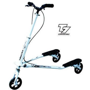 Trikke Tech T7F-WTBK - T7 Fitness White-Black
