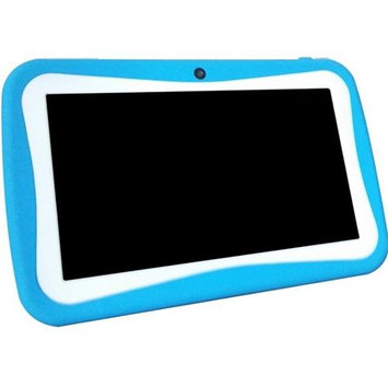 WorryFreeGadgets WFG-KIDS7-BLUE 7in Android 4.4 Dual Core Syst 4GB Dual Cam Wl Games