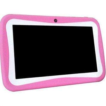 WorryFreeGadgets WFG-KIDS7-PINK 7in Android 4.4 Dual Core Syst 4GB Dual Cam Wl Games