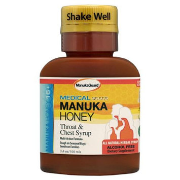 Manukaguard Throat and Chest Syrup 100 ml 3.4 fl oz