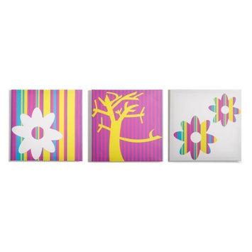 Modern Littles Color Pop Nature Canvas Print - Set of 3