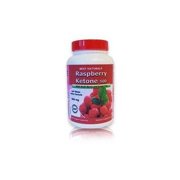 Best Naturals Raspberry Ketone, 500mg, 60 Veggie Capsules