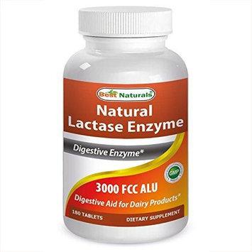 Best Naturals Natural Lactase Enzyme, 3000 Fcc, 180 Tablets