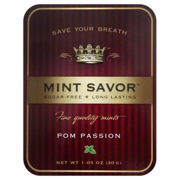 Mint Savor Mint Tin Pomegranate Passion Fruit 1.05 Oz Case of 12