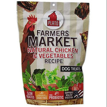 Plato Pet Treats Plato - Chicken & Veggie Dog Treats