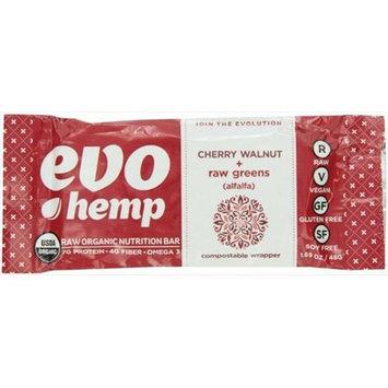 Evo Hemp - Organic Nutrition Raw Greens Bar Cherry Walnut - 1.69 oz.