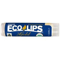 Eco Lips - Gold USDA Certified Organic Lip Balm Unflavored - 0.15 oz.